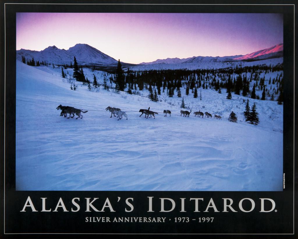 Alaska S Iditarod Silver Anniversary Poster Jeff Schultz