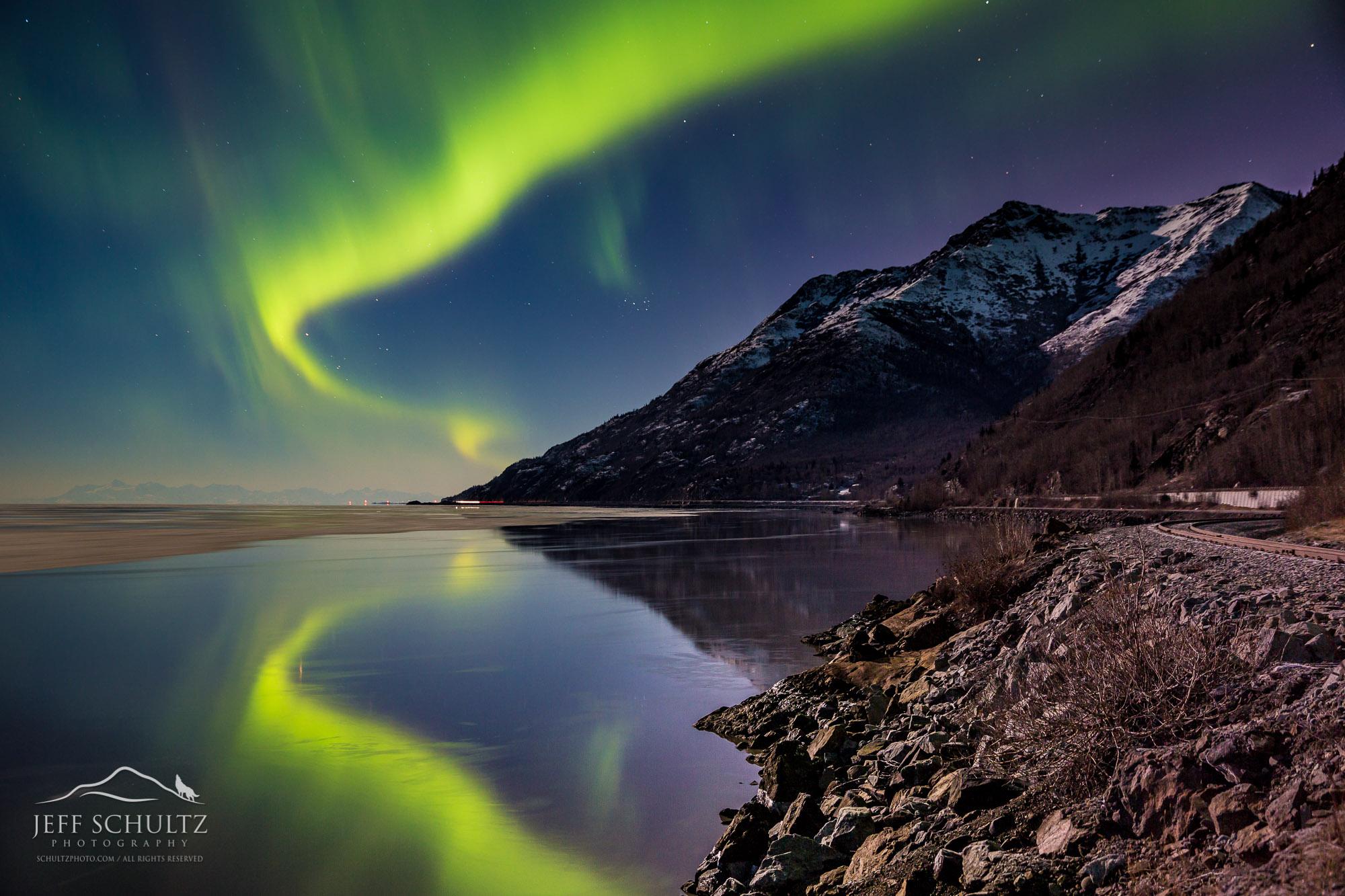 alaska landscape landscapes schultz jeff reflection photographer project nature northern lights schultzphoto