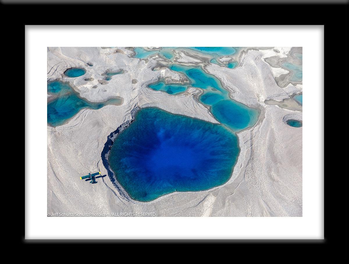 Super-Cub-airplane-from-above-Barnard-Glacier-Wrangell-StElias-National-Park